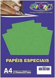 PAPEL COLOR A4 20F 120G VERDE OFF PAPER