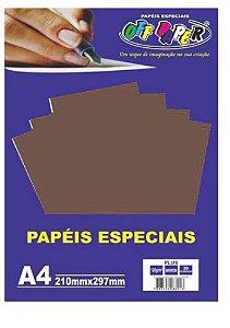 PAPEL COLOR A4 20F 120G MARROM OFF PAPER