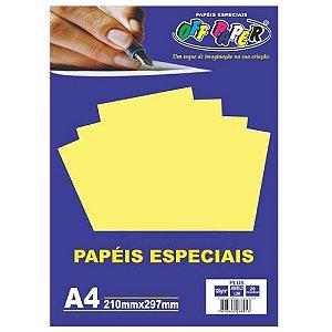 PAPEL COLOR A4 20F 120G AMARELO LUMI OFF PAPER