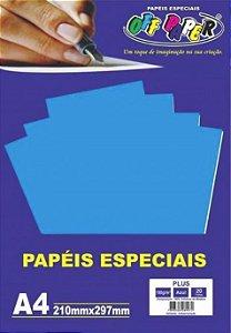 PAPEL COLOR PLUS A4 20F 180GR AZUL OFF PAPER