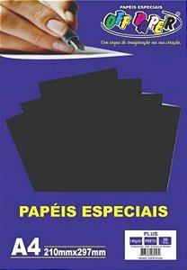 PAPEL COLOR PLUS A4 20F 180GR PRETO OFF PAPER