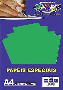 PAPEL COLOR PLUS A4 20F 180GR VERDE OFF PAPER