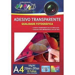 PAPEL FOTOGRAFICO TRANSPARENTE A4 150G 10F PCT OFF PAPER