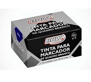 TINTA MARCADOR QUADRO BRANCO 20ML AZUL CX.12UN BRW