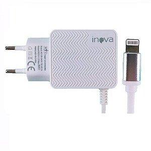 CARREGADOR APPLE 2 USB 3.1A+CABO INOVA CAR-9017
