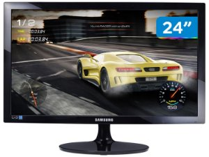 MONITOR 24 LED PRETO GAMER SAMSUNG S24D332H VGA/HDMI