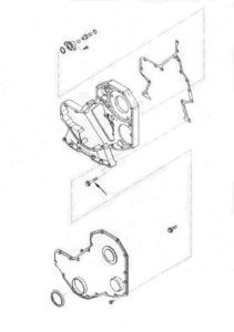 PARAFUSO CARCACA CUMMINS B GRANDE M8 X 1,25 X 50
