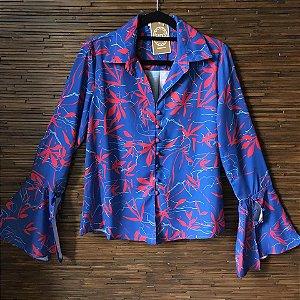 Camisa Floral com Botões