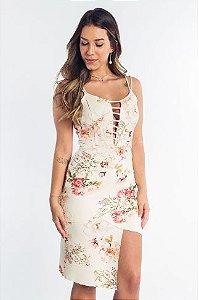 Vestido Midi Estampado Floral