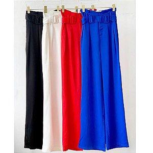 Calça Pantalona Clochard com Duas Fivelas