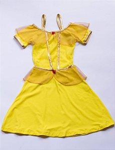 Vestido Infantil Princesa Amarelo