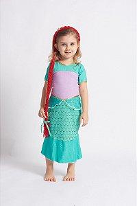 Vestido Infantil Princesa Sereia
