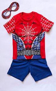 Pijama Infantil Manga Curta Rede