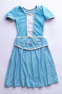 Vestido Infantil Princesa Azul