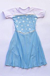 Vestido Infantil Princesa Azul Capa