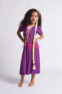 Vestido Infantil Princesa Roxo