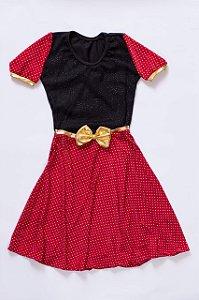 Vestido Infantil Fantasia Poá