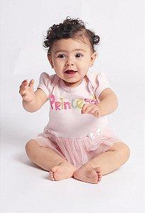 Body Bebê Saia Tule Princesa