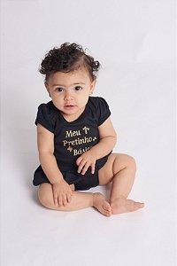 Body Bebê Saia Pretinho Básico