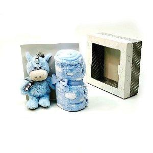 manta gift unicórnio - azul