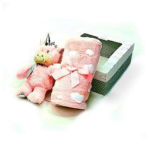 Manta Gift unicórnio -rosa