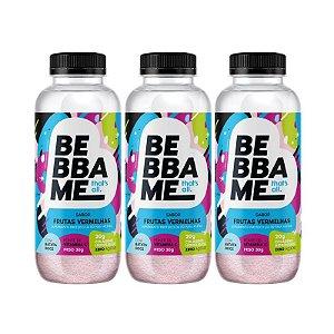 Trio Bebba Me Drink Shake - Sabor Frutas Vermelhas (3 unid.)