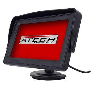 """Monitor Automotivo LCD 4,3"""" 12V para Câmera de Ré / GPS / DVD / Vídeo Game (Tela Automotiva)"""