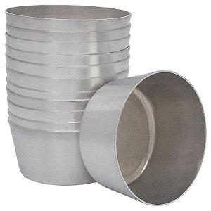 Fôrma de Alumínio Redondo para Cupcake / Muffin 12 Unidades (Assadeira)