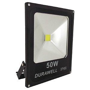 Refletor Holofote LED Branco 50W Bivolt (Interno e Externo)