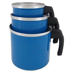 Jogo de Canecão de Alumínio com 3 Peças Koup - Azul