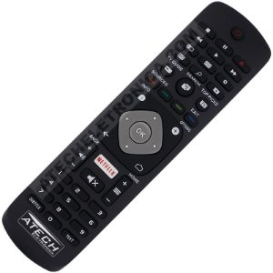 Controle Remoto TV LED Philips YKF406-001 / 32PFH5501 / 40PFH5501 / 49PFH5501 / 55PUS6401 com Netflix (Smart TV)