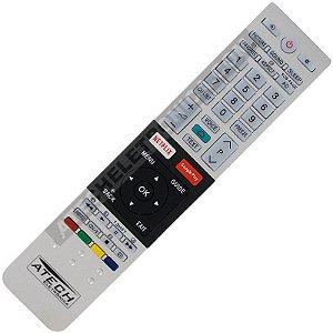 Controle Remoto TV LED Toshiba CT-8536 com Netflix e Google Play (Smart TV)