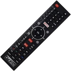 Controle Remoto TV LED Semp CT-6840 com Netflix / Youtube / GloboPlay (Smart TV)