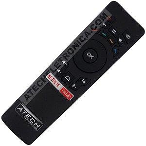 Controle Remoto TV LED Multilaser TL002 / TL004 / TL008 com Netflix e Youtube (Smart TV)