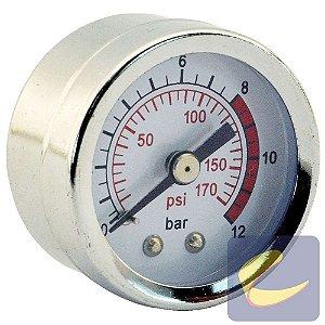 Manômetro 40X170 Psi 1/8 Pol. Bsp Motocompressores Chiaperini
