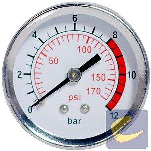 Manômetro 50 Mm. 170Psi 1/4Bsp Motocompressores Chiaperini