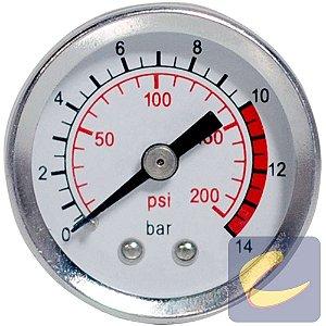 Manômetro 200 Lbs 0/200 40 mm. 1/8 Bsp Mupac - Compressores Média Pressão - Chiaperini