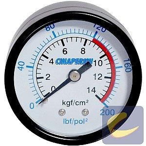 Manômetro 200 Lbs 120/200 50 Mm. 1/4 Npt Mupac Compressores De Ar Baixa Pressão Chiaperini