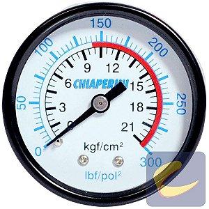 """Manômetro 300 Lbs 140/300 50 mm. 1/4"""" Npt Mupac - Compressores Média Pressão - Chiaperini"""