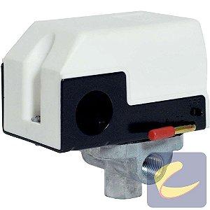 Pressostato 080/120 Com Válvula Com Chave Com Manifold 4 Vias Branco Linha Odontológica Chiaperini