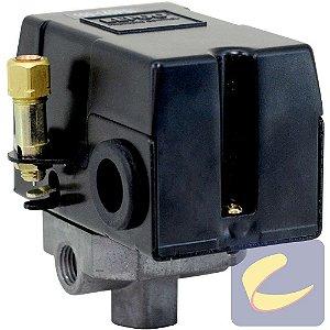 Pressostato 100/140 Com Válvula Com Chave Com Manifold 4 Vias Compressores De Ar Média / Alta Pressão Chiaperini