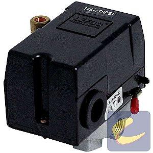 Pressostato 125/175 C/V C/Ch C/M 4 Vias - Compressores Alta Pressão - Chiaperini