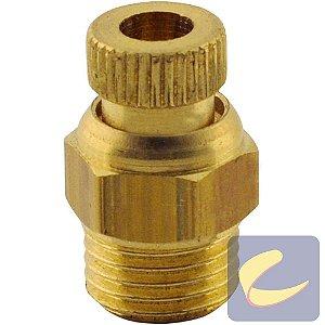 Válvula Purgadora 1/4 Pol. Recartilhada Compressores De Ar Baixa / Média / Alta Pressão - Motocompressores Chiaperini