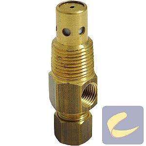 """Válvula retenção 3/8""""1B - compressor de ar baixa pressão Chiaperini"""