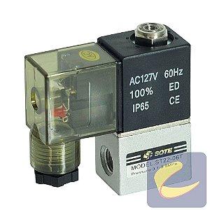 """Válvula Direcional 2/2V 1/8"""" BspxMb8x0.75/Ma5 110 - Compressores Odonto - Chiaperini"""