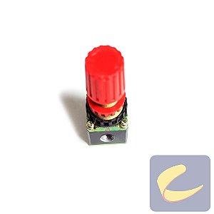 "Válvula Reg. Pressão Com Alívio 1/4"" Npt 0-8 Bar - Compressores Odonto/ Baixa Pressão - Chiaperini"