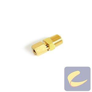 Conector M. Latão 5/16x3/8  - Compressores Baixa Pressão - Chiaperini