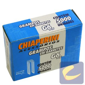 Grampo Em Barretes Pcw 6Mm G-6Pcw 5000 Unidades Grampeadores - Chiaperini