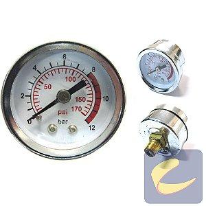 Manômetro 40 mm. 170Psi 1/8Bsp - Motocompressores - Chiaperini