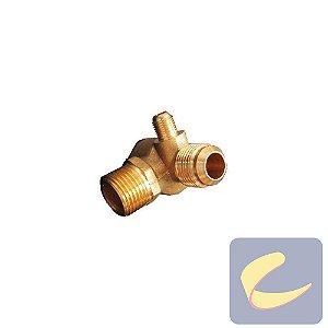 "Válvula Retenção 1/2""NptxM14x1.5xAliv. 1/8""Bsp - Compressores Odonto - Chiaperini"
